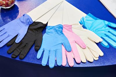 rękawiczki medyczne, nitryl, latex