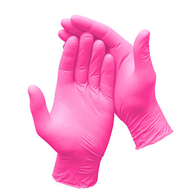 Rękawiczki nitrylowe różowe