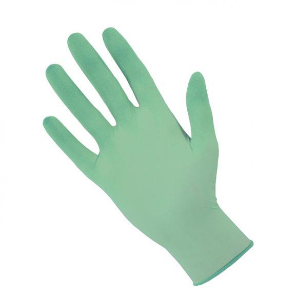 rękawiczki nitrylowe zielone
